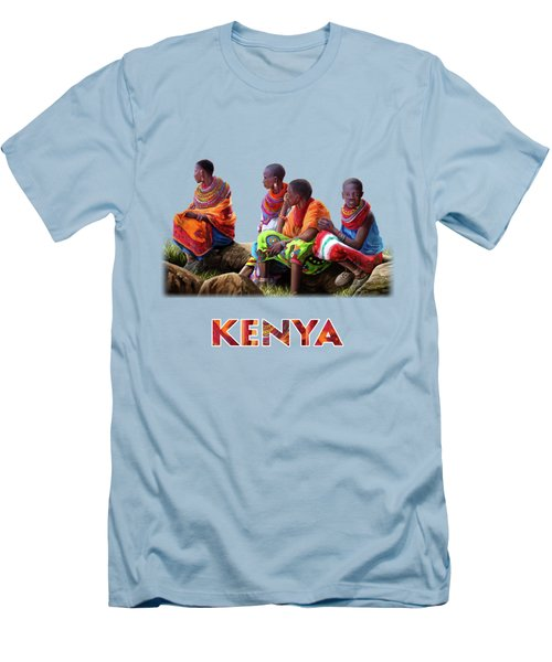 Maasai Women Men's T-Shirt (Slim Fit) by Anthony Mwangi
