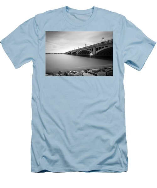 Macarthur Bridge To Belle Isle Detroit Michigan Men's T-Shirt (Athletic Fit)