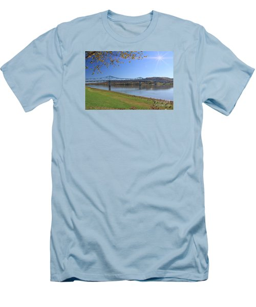 Madison, Indiana Bridge  Men's T-Shirt (Athletic Fit)