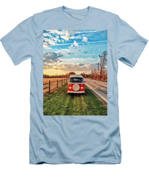 Magic Hour Magic Bus Men's T-Shirt (Slim Fit) by Andrew Weills