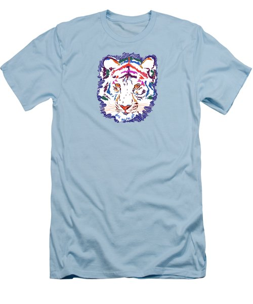 Men's T-Shirt (Slim Fit) featuring the digital art Magnificent Tiger by Mary Armstrong