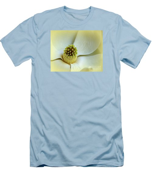 Men's T-Shirt (Slim Fit) featuring the photograph Magnolia Heart II by Lisa L Silva