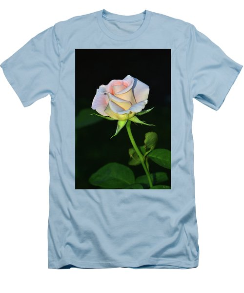 Men's T-Shirt (Slim Fit) featuring the photograph Maid Of Honour Rose 001 by George Bostian