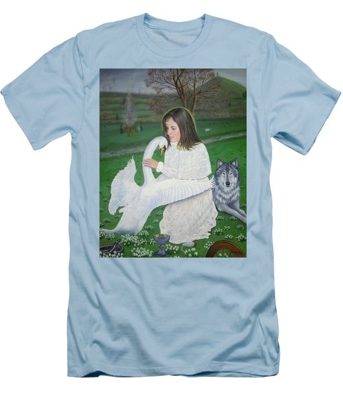 Maiden Goddess Brigit - Imbolc Men's T-Shirt (Athletic Fit)