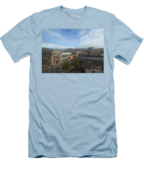 Main St To The Mountains   Men's T-Shirt (Slim Fit) by Christina Verdgeline