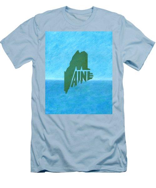 Maine Wordplay Men's T-Shirt (Athletic Fit)