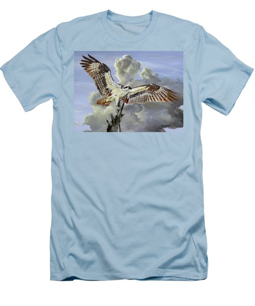 Majestic Sea Hawk Men's T-Shirt (Slim Fit) by Phyllis Beiser