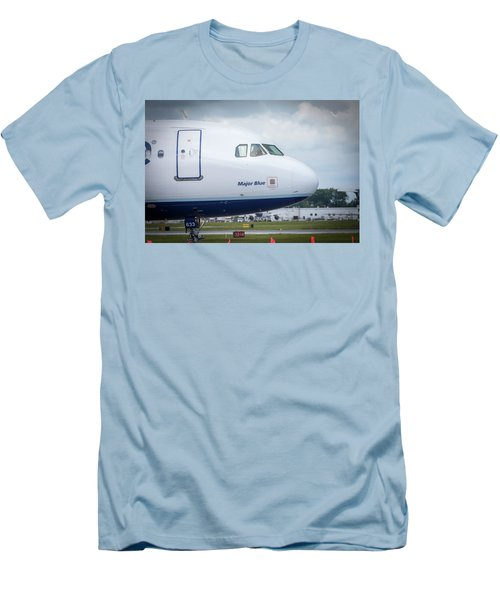 Men's T-Shirt (Athletic Fit) featuring the photograph Major Blue by Guy Whiteley