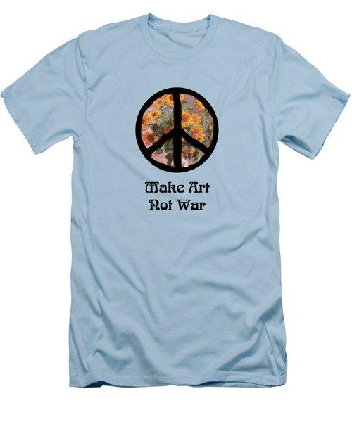 Make Art Not War Peace Sign Men's T-Shirt (Athletic Fit)