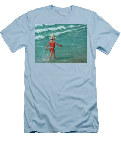 Making A Splash   Men's T-Shirt (Slim Fit) by Susan DeLain