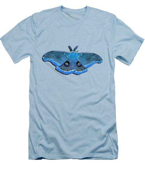 Male Moth Medium Blue .png Men's T-Shirt (Athletic Fit)