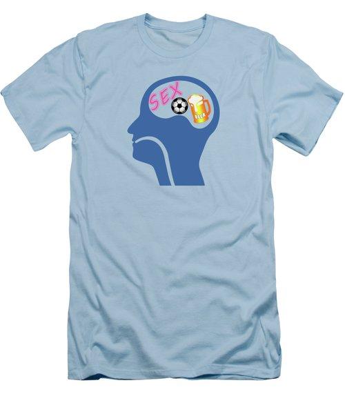 Male Psyche Men's T-Shirt (Slim Fit) by Gaspar Avila