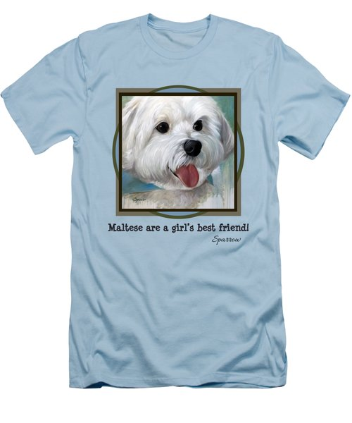 Maltese Are A Girl's Best Friend Men's T-Shirt (Athletic Fit)