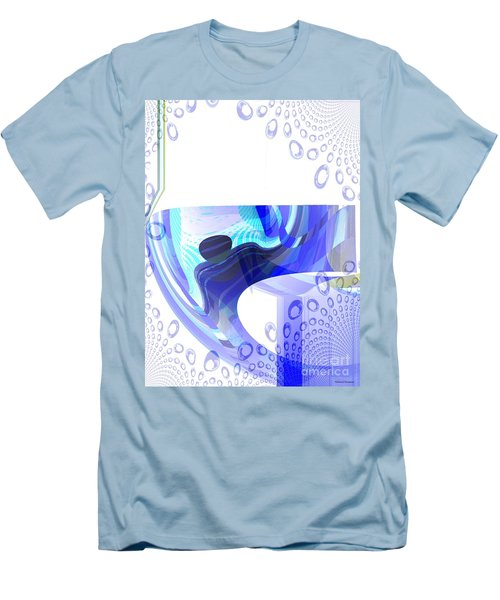 Man In The Air Men's T-Shirt (Slim Fit) by Thibault Toussaint