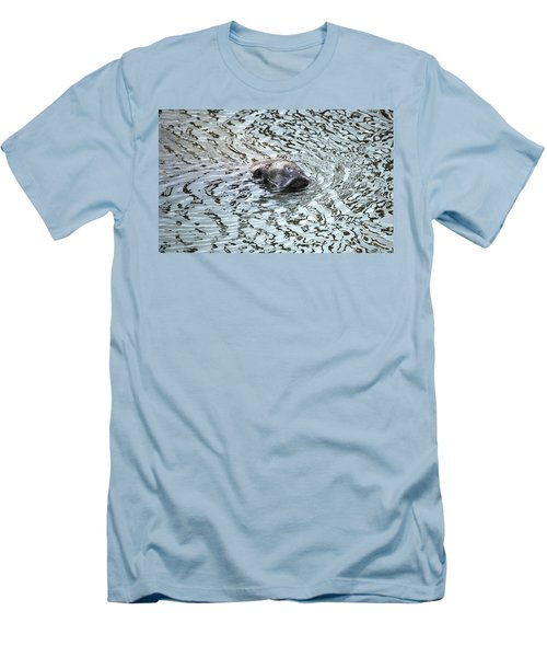Manatee 2 Men's T-Shirt (Slim Fit) by Angela Murray