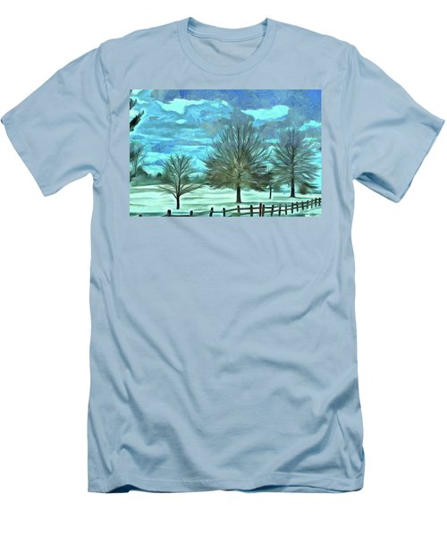 Men's T-Shirt (Slim Fit) featuring the mixed media Mandisa by Trish Tritz