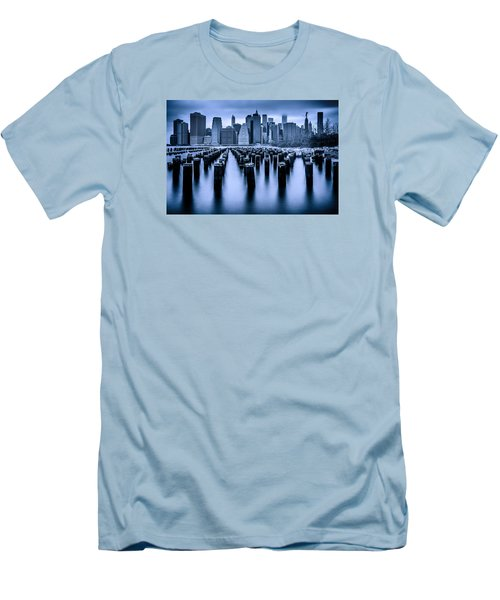 Men's T-Shirt (Slim Fit) featuring the photograph Manhattan Blues by Chris Lord