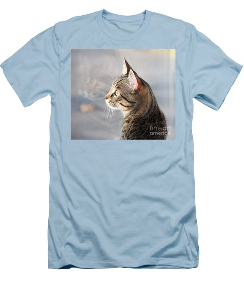 Men's T-Shirt (Slim Fit) featuring the photograph Many Faces Of Monty.. by Jolanta Anna Karolska
