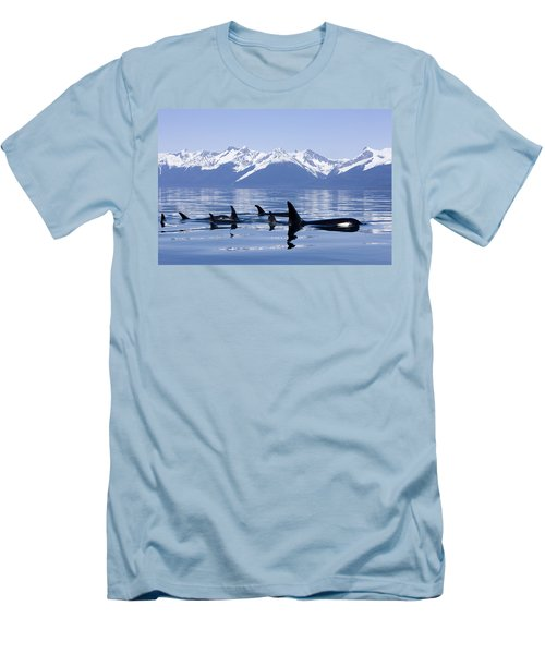 Many Orca Whales Men's T-Shirt (Slim Fit) by John Hyde - Printscapes
