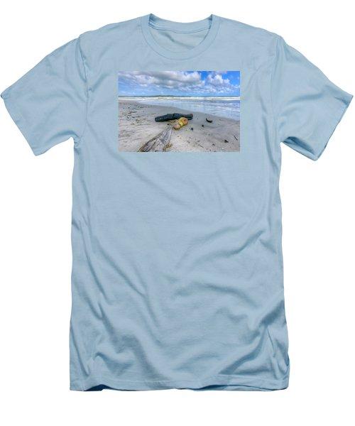 Manzanilla Beach Men's T-Shirt (Slim Fit) by Nadia Sanowar