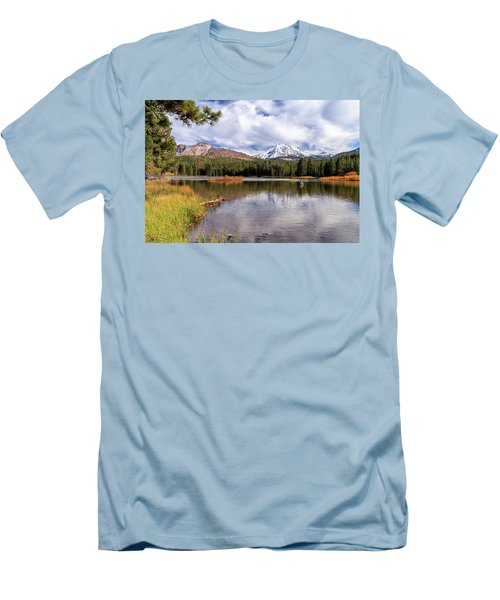 Manzanita Lake - Mount Lassen Men's T-Shirt (Slim Fit) by James Eddy