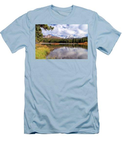 Men's T-Shirt (Athletic Fit) featuring the photograph Manzanita Lake - Mount Lassen by James Eddy