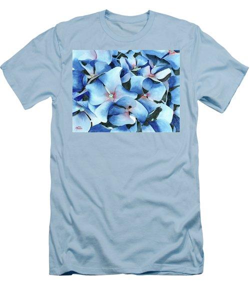 Marathon Hydrangeas Men's T-Shirt (Athletic Fit)