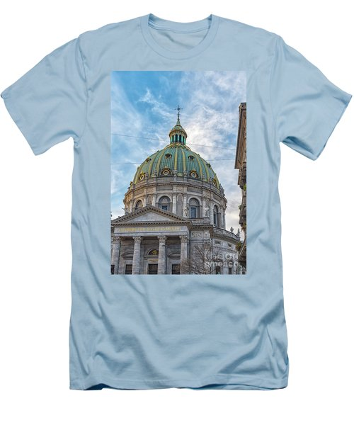 Men's T-Shirt (Slim Fit) featuring the photograph Marble Church In Copenhagen by Antony McAulay