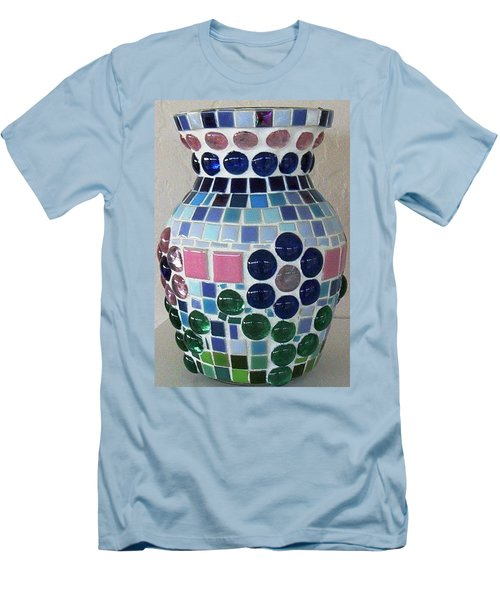 Men's T-Shirt (Slim Fit) featuring the glass art Marble Vase by Jamie Frier