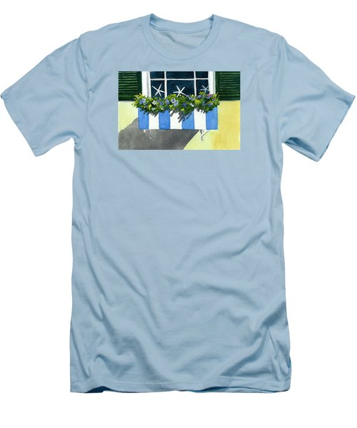 Marblehead Planter Box Men's T-Shirt (Slim Fit) by Anne Marie Brown