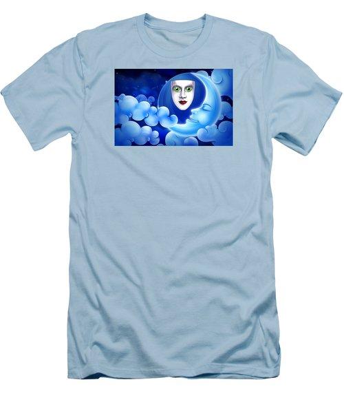Men's T-Shirt (Slim Fit) featuring the photograph Mardi Gras At Night by Gary Crockett