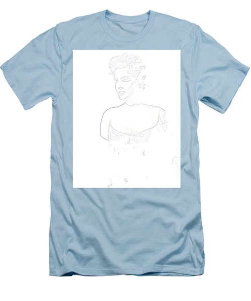 Men's T-Shirt (Athletic Fit) featuring the painting Marilyn Monroe Pop Art Bus Stop by R Muirhead Art