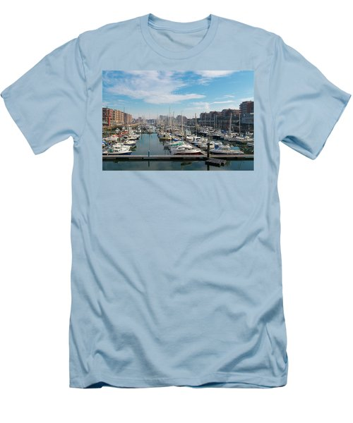 Men's T-Shirt (Slim Fit) featuring the photograph Marina In The Netherlands by Hans Engbers