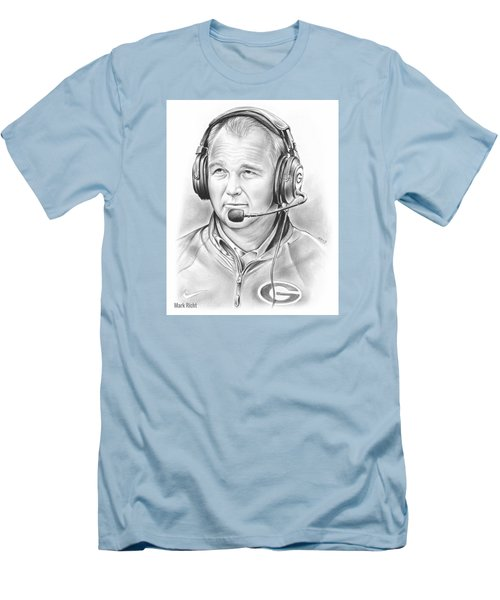 Mark Richt  Men's T-Shirt (Slim Fit) by Greg Joens