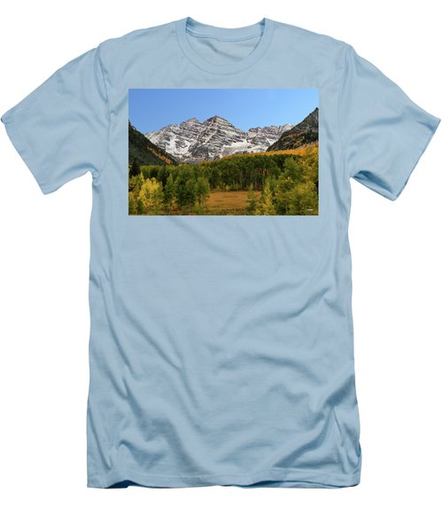 Maroon Bells Men's T-Shirt (Athletic Fit)