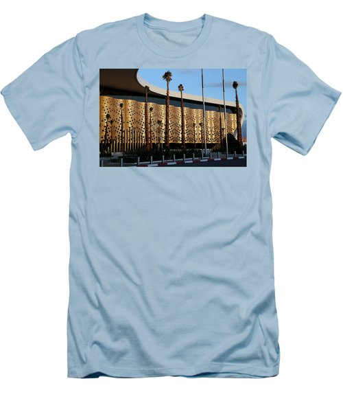 Men's T-Shirt (Slim Fit) featuring the photograph Marrakech Airport 1 by Andrew Fare