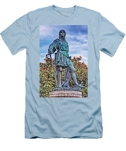 Men's T-Shirt (Athletic Fit) featuring the photograph Marshal Of Brittany Jehan De Beaumanoir by Elf Evans