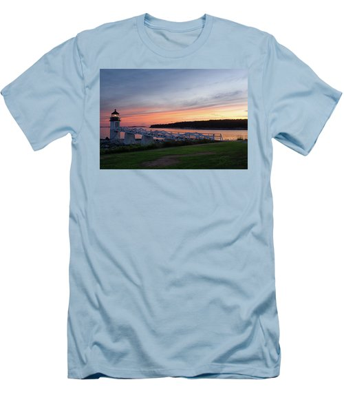 Marshall Point Lighthouse, Port Clyde, Maine -87444 Men's T-Shirt (Slim Fit) by John Bald