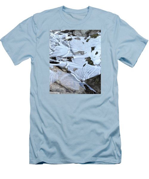 Men's T-Shirt (Slim Fit) featuring the photograph Ice Mask Abstract by Glenn Gordon