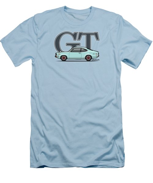 Mazda Savanna Gt Rx-3 Baby Blue Men's T-Shirt (Slim Fit) by Monkey Crisis On Mars