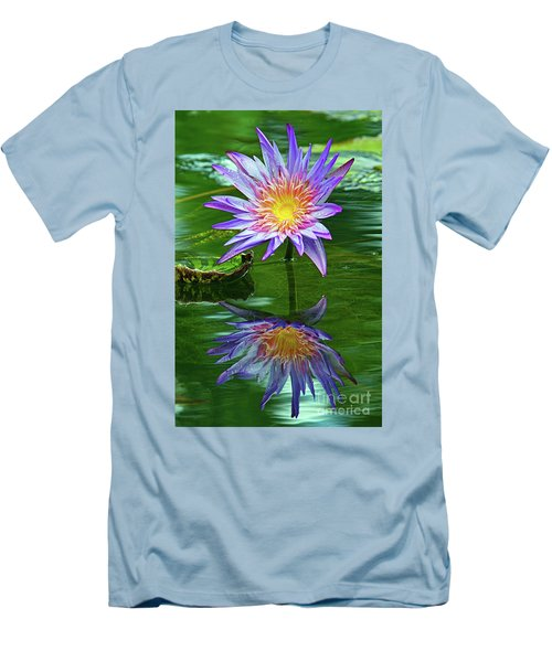Mckee Water Lily Men's T-Shirt (Slim Fit) by Larry Nieland