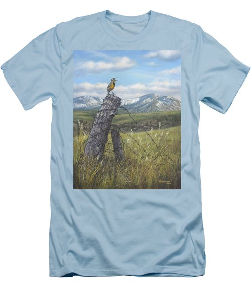 Meadowlark Serenade Men's T-Shirt (Slim Fit) by Kim Lockman