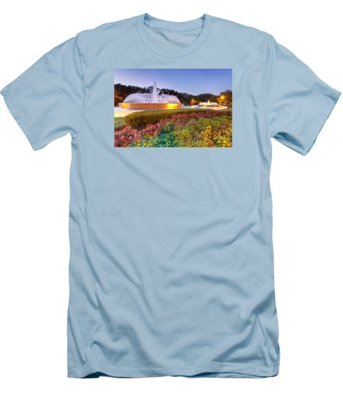 Mecom Fountain Men's T-Shirt (Slim Fit) by Tim Stanley