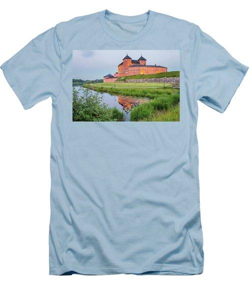 Medieval Castle Men's T-Shirt (Slim Fit) by Teemu Tretjakov
