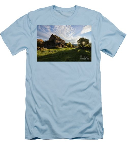Medieval Tezharuyk Monastery During Amazing Sunrise, Armenia Men's T-Shirt (Athletic Fit)