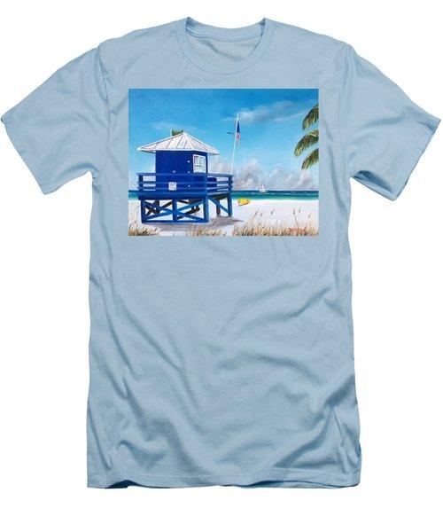 Meet At Blue Lifeguard Men's T-Shirt (Athletic Fit)