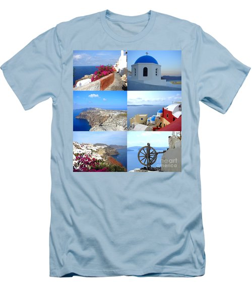 Men's T-Shirt (Slim Fit) featuring the photograph Memories From Santorini by Ana Maria Edulescu