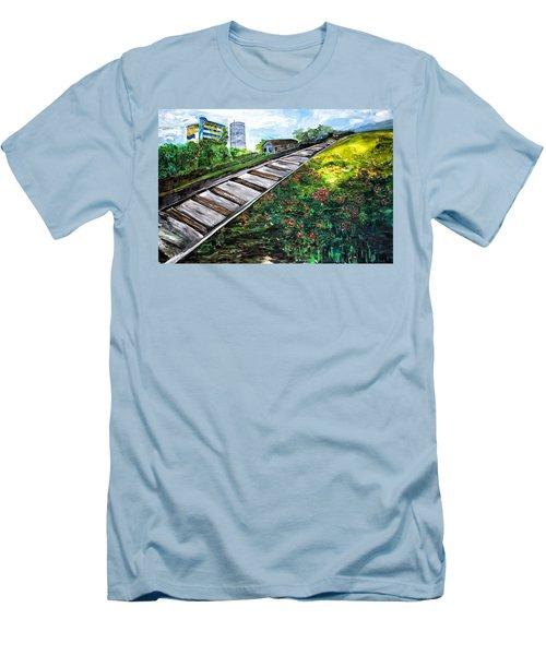 Memories Of Commonwealth Men's T-Shirt (Slim Fit) by Belinda Low