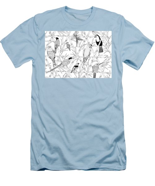 Menagerie Black And White Men's T-Shirt (Slim Fit) by Jacqueline Colley