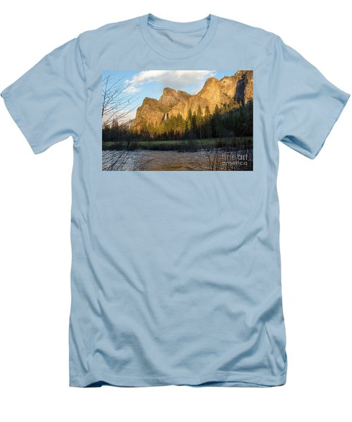 Merced River Yosemite Color Men's T-Shirt (Athletic Fit)